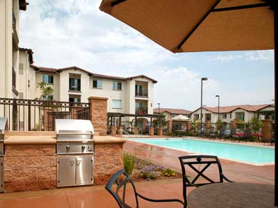 The Jasmine Senior Apartments Pool view